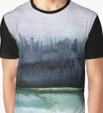 Watercolor landscape sky clouds Graphic T-Shirt