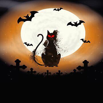 Mystery Evil Cat Halloween by Delpieroo