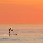 Sunset surfer by Lee Jones