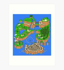 Super Mario World Map Art Print