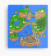 Super Mario World Map Metal Print