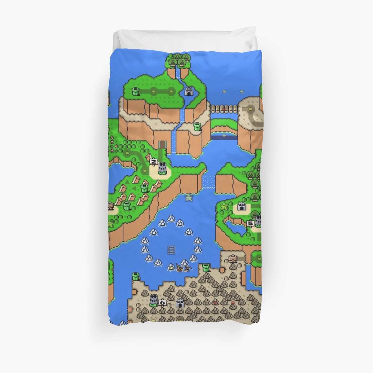 Super mario world map duvet covers by idaspark redbubble super mario world map by idaspark gumiabroncs Image collections