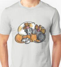 Pit bull terrier dogs - sleeping pile Unisex T-Shirt