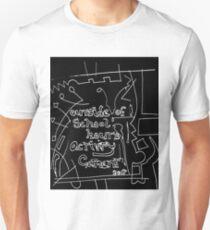 Outside of school hours activity - REVERSI white on black T-Shirt