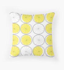 1950s Lemons Throw Pillow