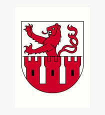 Muttenz Coat of Arms, Switzerland Art Print