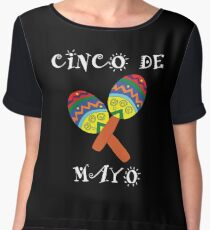 Mexican Cinco De Mayo Maracas Design Women's Chiffon Top