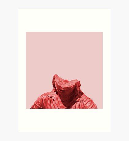 Schüchternes rotes Mädchen Kunstdruck