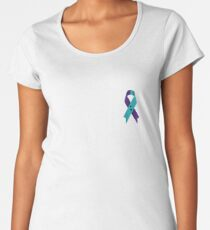 Semicolon; Suicide Awareness/Prevention Ribbon (For Color Shirt) Women's Premium T-Shirt