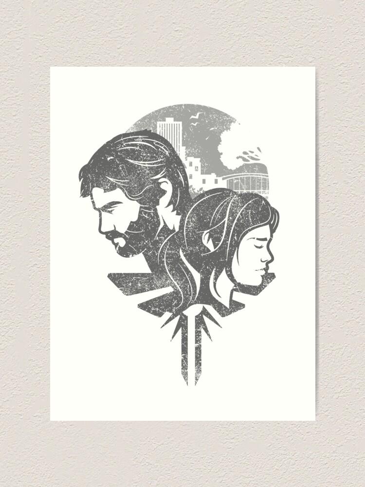 The Last Of Us Joel Ellie Art Print
