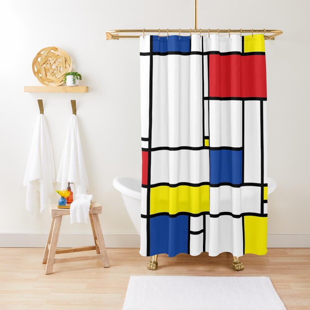 Mondrian Minimalist De Stijl Modern Art Shower Curtain