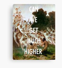CAN WE GET MUCH HIGHER / KANYE WEST  Canvas Print