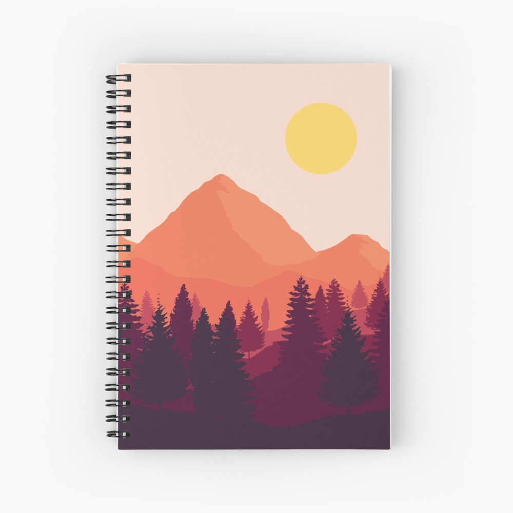 Forest Mountain Horizon Spiral Notebook
