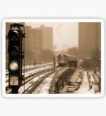 Snowy Day In Bronx  Sticker