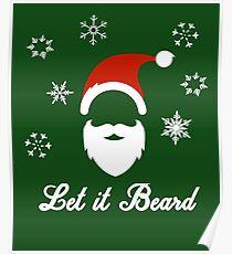 Let it Beard Christmas T-Shirt Poster