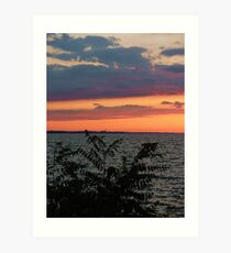 May there be just enough clouds in your life to create a glorious sunset  ~ unknown  Art Print