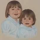 George's cute granddaughters. by Brian Towers