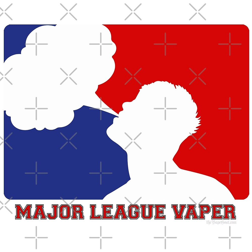 Major League Vaper Red White and Blue by IconicTee