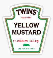 TWINS Yellow Mustard Sticker