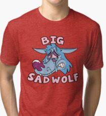 Big Sad Wolf Tri-blend T-Shirt