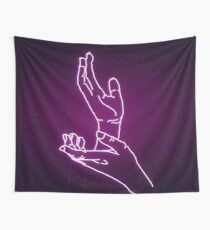 Neon Meanwhile (pink) Wall Tapestry