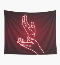 Neon Meanwhile (red) Wall Tapestry