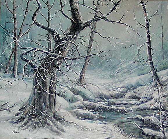 SYCAMORES IN THE SNOW by William Hosie