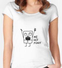 Me Hoy Minoy Spongebob Meme Fitted Scoop T-Shirt