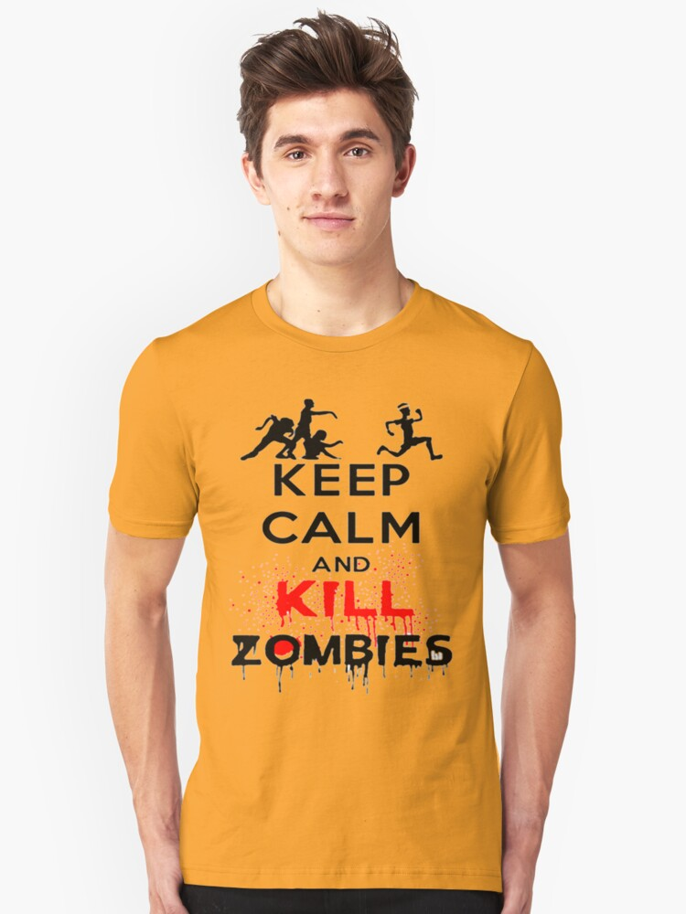 KEEP CALM ZOMBIES Unisex T-Shirt Front