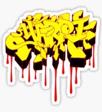 Yarri Graffiti - Aboriginal Flag Colours d Sticker
