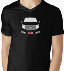Elgrand E51 Dark with Rising Sun flag Men's V-Neck T-Shirt