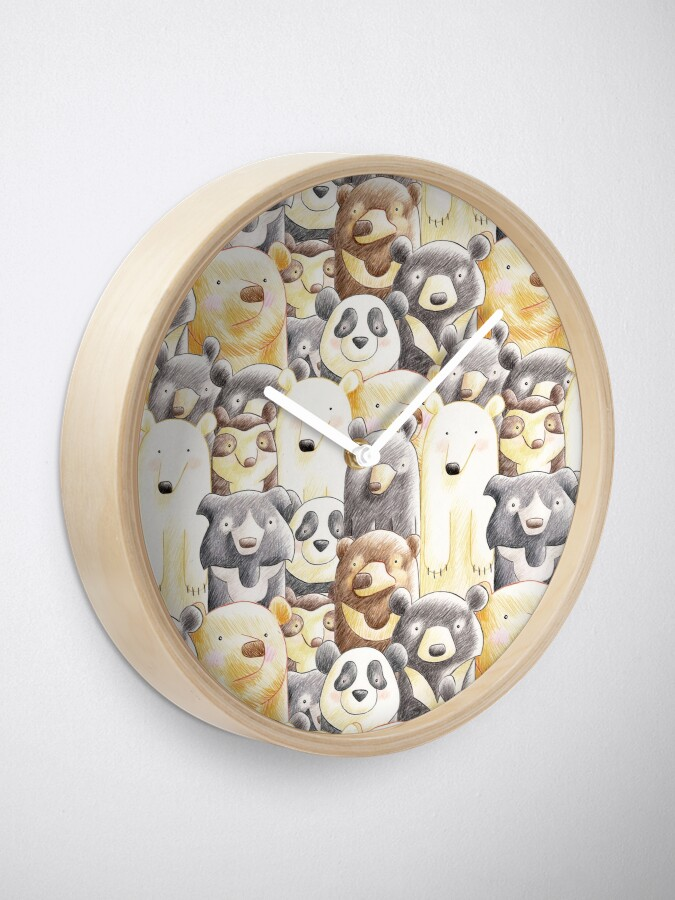 Alternate view of It's a Family of Bears - Family Portrait Clock