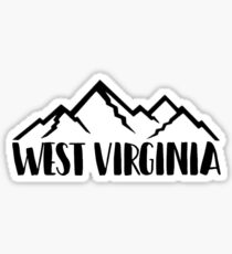 West Virginia Mountains Sticker