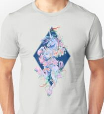 Crystal snake rainbow unicorn Unisex T-Shirt