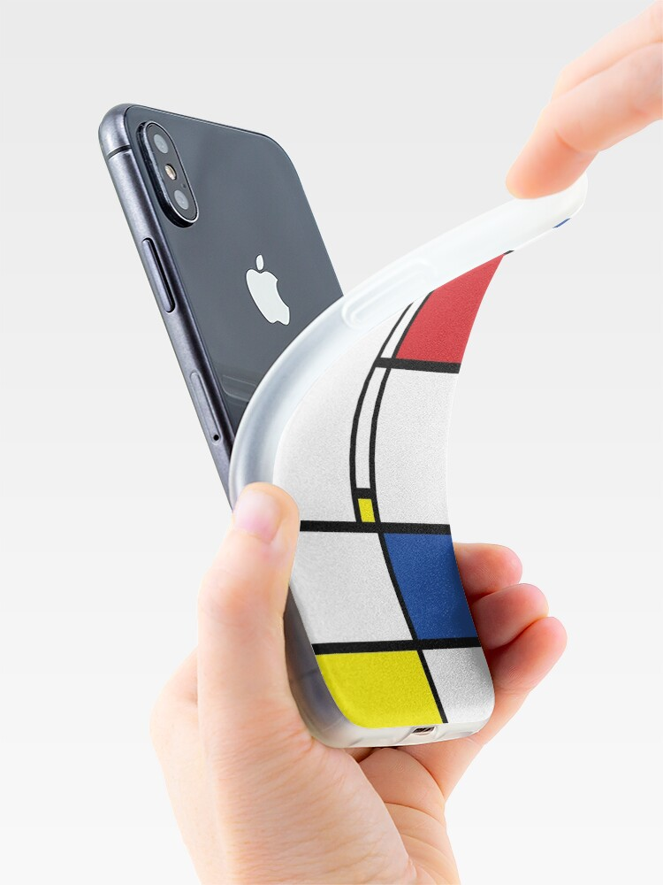 Alternate view of Mondrian Minimalist De Stijl Modern Art iPhone Cases & Covers