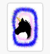 Unicorn Through A Portal Sticker