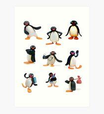 Pingu Stimmung Kunstdruck
