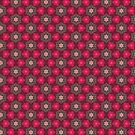 Red flowers pattern by Silvia Ganora