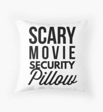 Scary Movie Security Pillow Throw Pillow