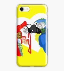 Abstract Parrot Kiss iPhone Case/Skin