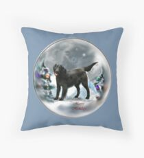 Flat-Coated Retriever Christmas Gifts Throw Pillow