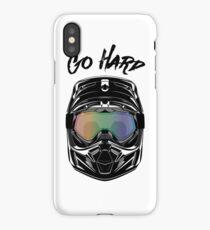 Motocross dirt motorbike helmet iPhone Case/Skin