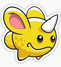 Cute Yellow Monster Sticker
