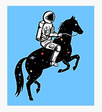Astronaut and Horse Photographic Print