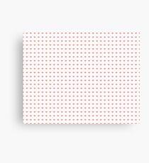 Pink Hearts Big Little Pattern Canvas Print
