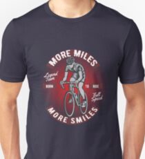 Funny Cycling Design - More Miles More Smiles T-Shirt