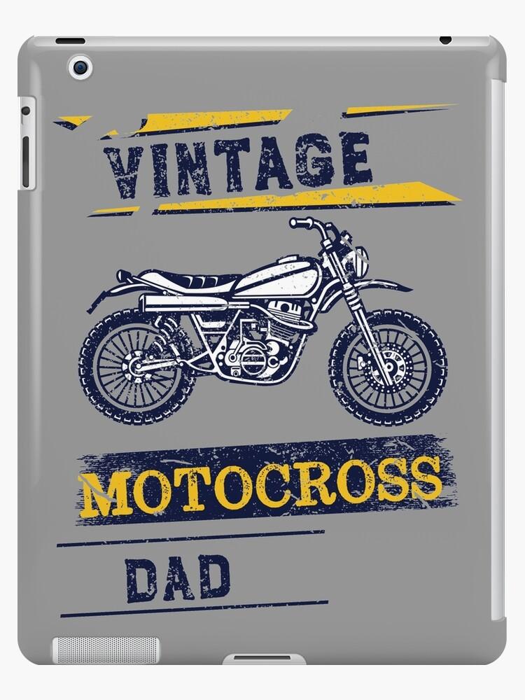'Vintage Motocross Dad Dirt bike Graphic Design' iPad Case/Skin by jermo133
