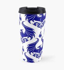 Dragon Damask - Sapphire Blue Travel Mug