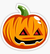 Cute Cartoon Jack-O'-Lantern for Halloween Sticker
