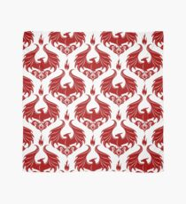 Dragon Damask - Ruby Red Scarf